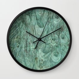 Peacock texture Wall Clock