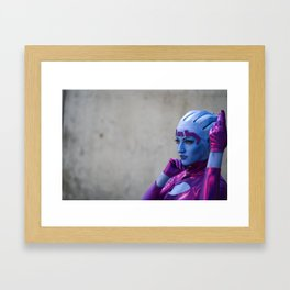 Asari by Arizzel Cosplay Framed Art Print