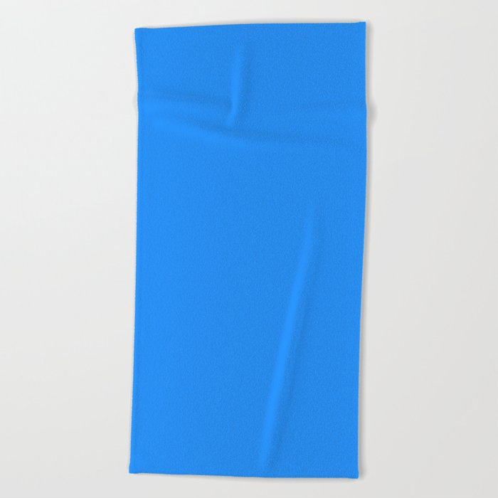 Solid Color Beach Towels.Dodger Blue Solid Color Beach Towel
