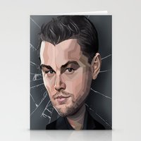 leonardo dicaprio Stationery Cards featuring DiCaprio Caricature by Stevie Ray Thompson
