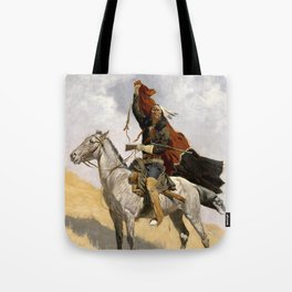 "Frederic Remington Western Art ""The Blanket Signal"" Tote Bag"