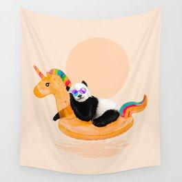 Chillin (Unicorn Panda) Wall Tapestry