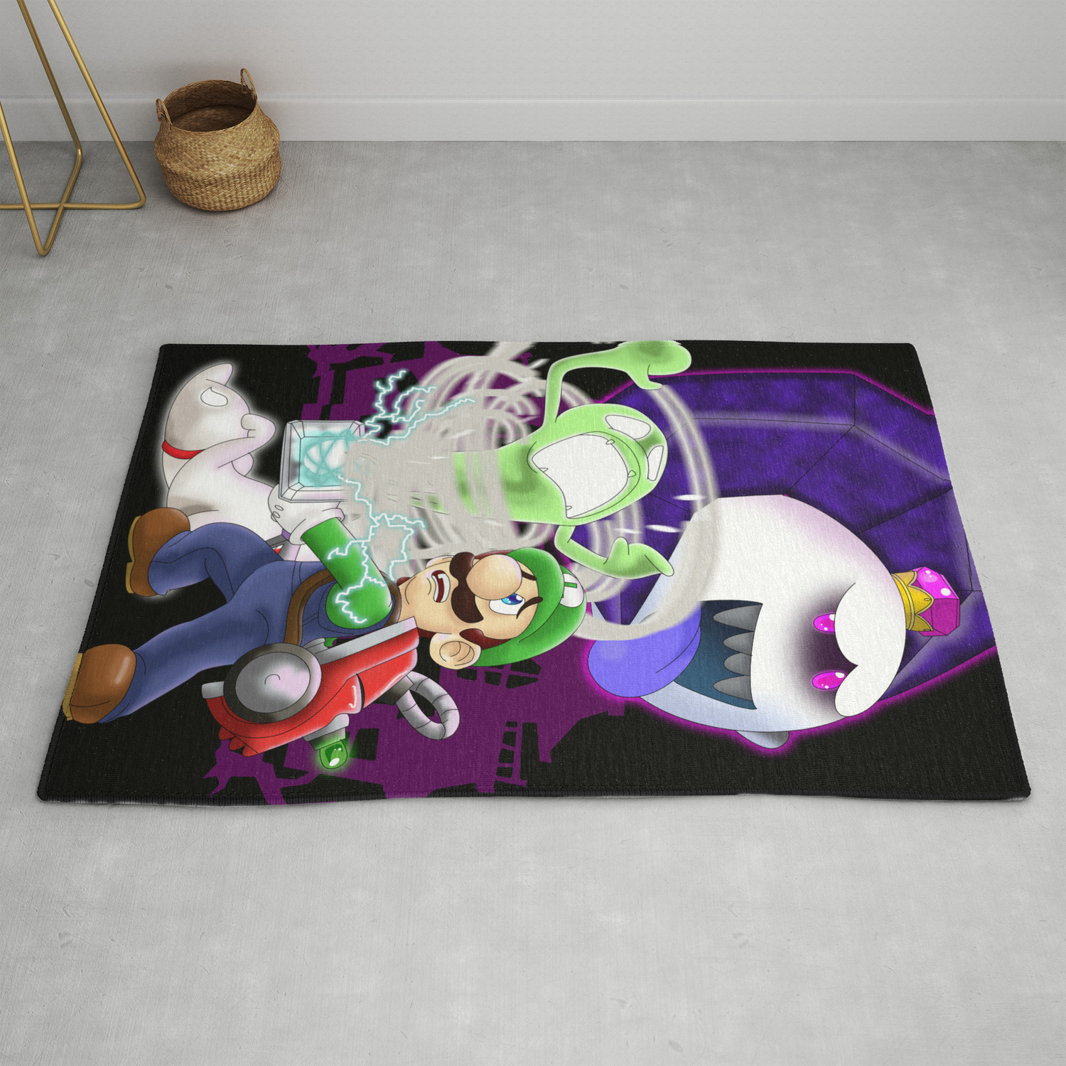Luigi S Mansion Dark Moon Rug By Kurewkreations Society6
