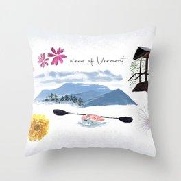 Views of Vermont Throw Pillow