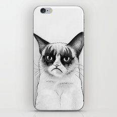 Grumpy Simmons Cat Whimsical Funny Animal Music iPhone & iPod Skin