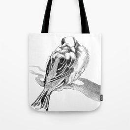 Cute Fluffy Bird Sleeping Tote Bag