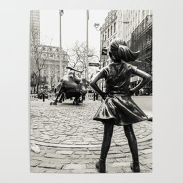 Fearless Girl & Bull - NYC Poster