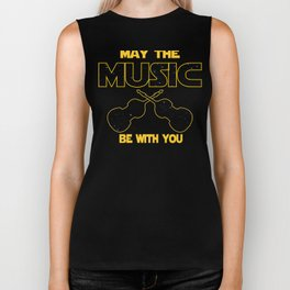 Contrabass May The Music Be With You Biker Tank