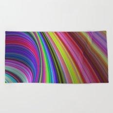 Rainbow vortex Beach Towel