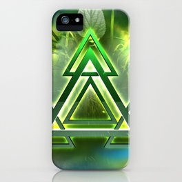 Sacred Geometry - Equilateral Triangle 05 iPhone Case