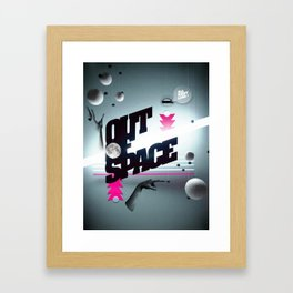 Out of space 02 Framed Art Print