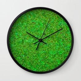 Closer Carpet on amazon river Wall Clock