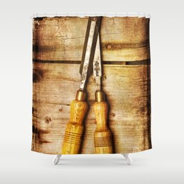 Old Chisels Shower Curtain
