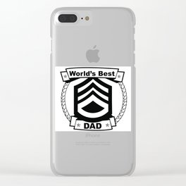 WORLD'S BEST DAD Abstract Art Clear iPhone Case