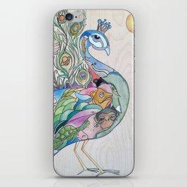 Planetary Peacock iPhone Skin