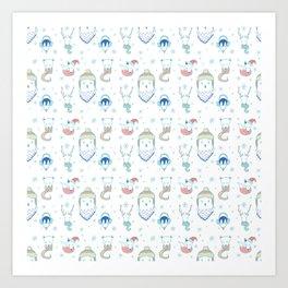 Warm Arctic Animals Art Print