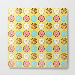 Donuts for days pattern. Metal Print