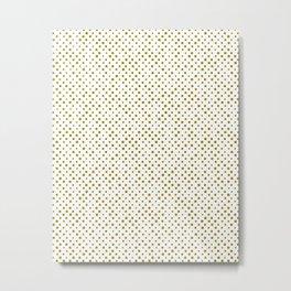 Trombone, brush strokes, minimal, halftone, polka dots, spots, mid century, abstract, pattern Metal Print