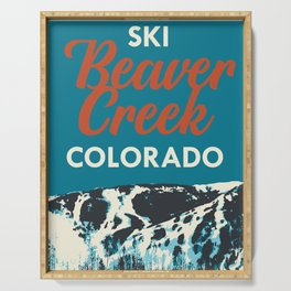 Beaver Creek Vintage Ski Poster Serving Tray