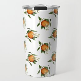 Blooming Citrus Watercolor Travel Mug