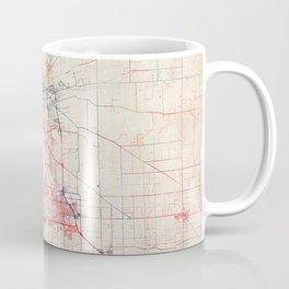 Stockton map California painting Coffee Mug