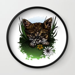 Calico Kitty Wall Clock
