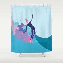 Lady Glider Shower Curtain