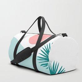 Tropical Beach, Minimalist Abstract Illustration Duffle Bag