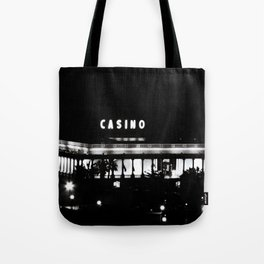 Black & White-Casino Tote Bag