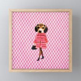 Puppy Person Framed Mini Art Print