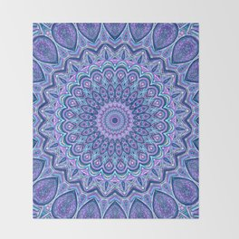 Purple Passion - Mandala Art Throw Blanket