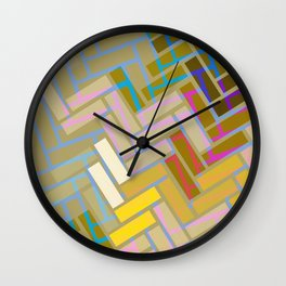 Fill In The Blank Colors Wall Clock