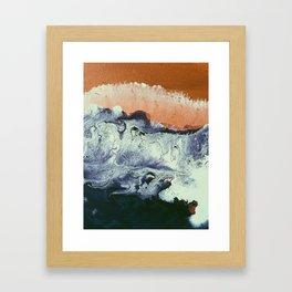 TIDAL SWELL   Acrylic abstract art by Natalie Burnett Art Framed Art Print