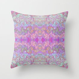 Pink Ice Abstract Watercolor Throw Pillow