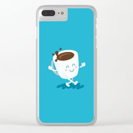 Coffee Pal Clear iPhone Case