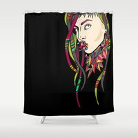 artrave Shower Curtains featuring ARTRAVE LG by Mario Klein