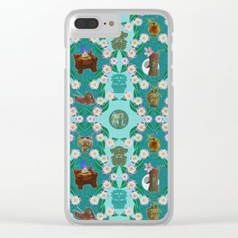 Tiki Party Eleganza Clear iPhone Case