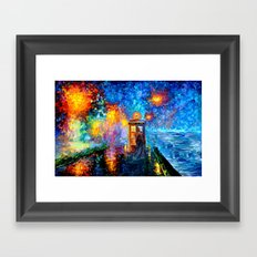 The 10th Doctor who Starry the night Art painting iPhone 4 4s 5 5c 6, pillow case, mugs and tshirt Framed Art Print