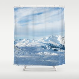 Mountain rescue station Shower Curtain