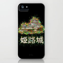 Himeji Castle Colorful Painting iPhone Case