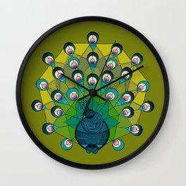 a heptagonal peacock Wall Clock