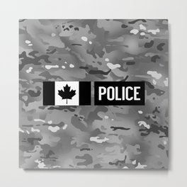 Canadian Police: Urban Camouflage Metal Print