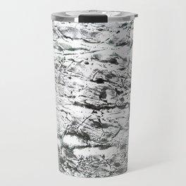 Gray marble watercolor Travel Mug