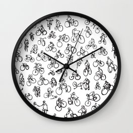Bicycle Diaries :: Single Line Wall Clock