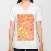 florida V-neck T-shirts featuring Florida Orange by Rosie Brown
