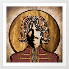 Boho Beatle (George) Art Print