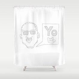 Greetings yo! Shower Curtain