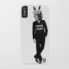White Tiger iPhone X Slim Case