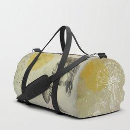 girl with dandelion Duffle Bag
