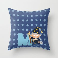 M for magician Throw Pillow